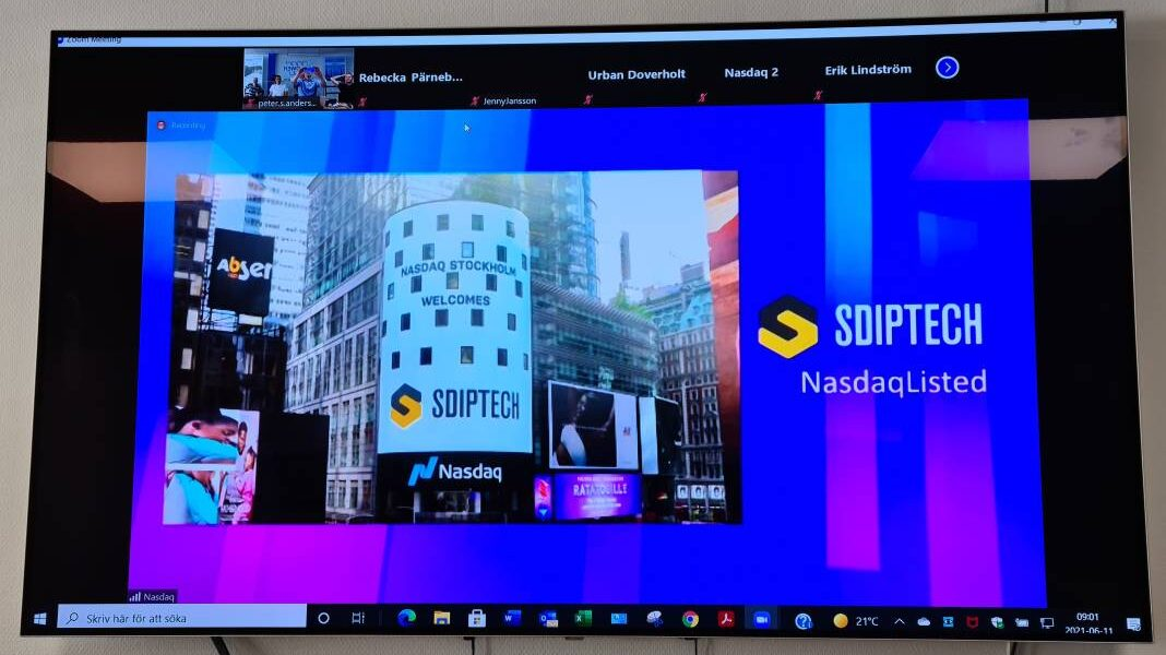 Trading in Sdiptech's shares commences on Nasdaq Stockholm